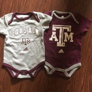 Texas A&M Aggies adidas baby Onesies